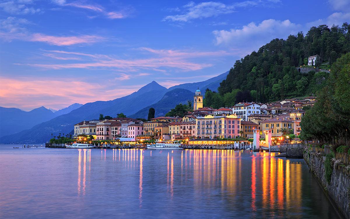 Tramonto su Bellagio Lago di Como