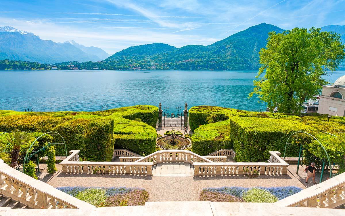 Vista del Lago di Como da Villa Carlotta Tremezzo