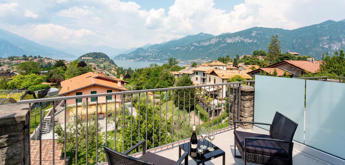 Hotel Domus Bellagio room 1 people lake view