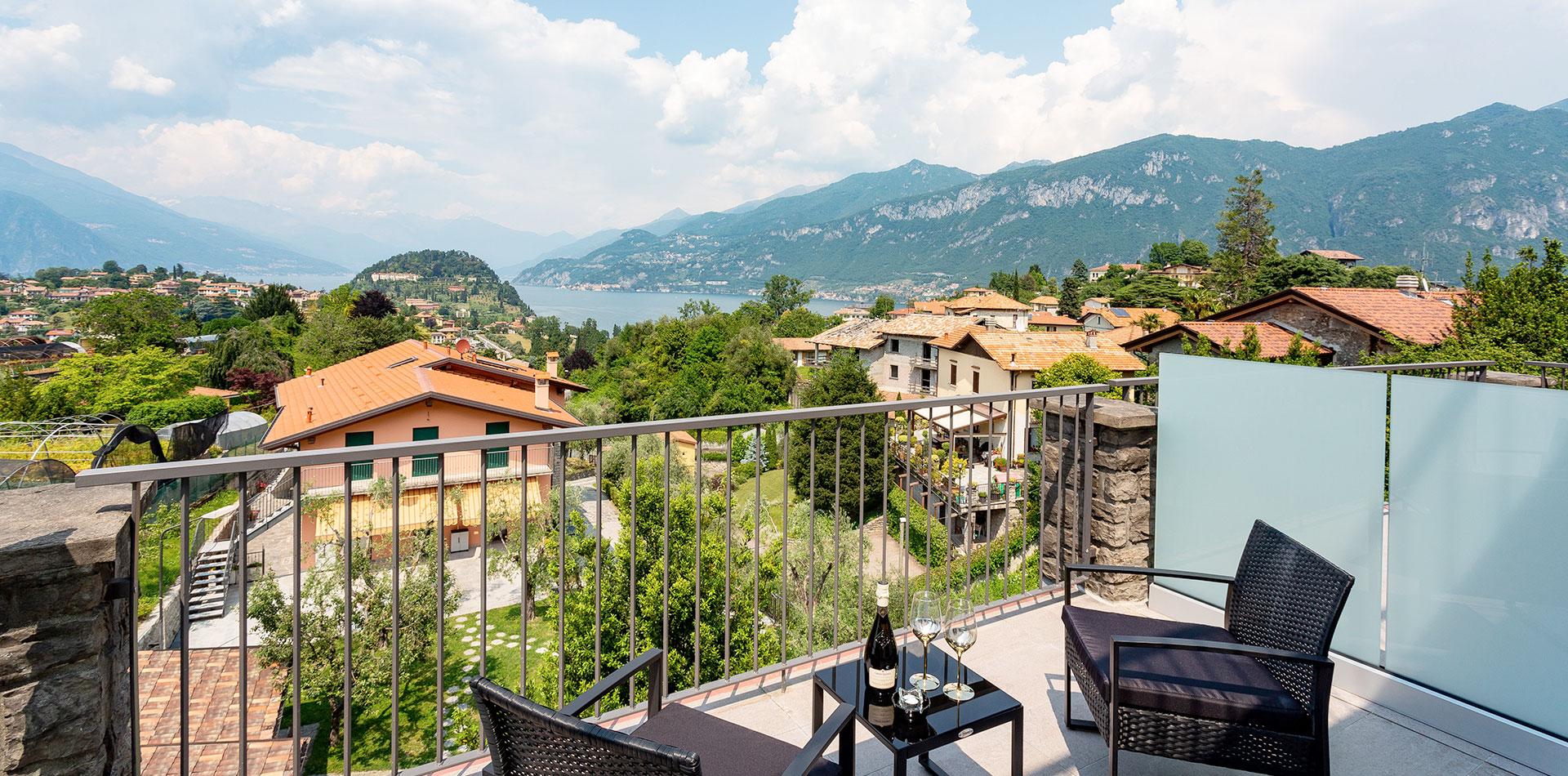 camera 1 persona Bellagio con vista lago di Como