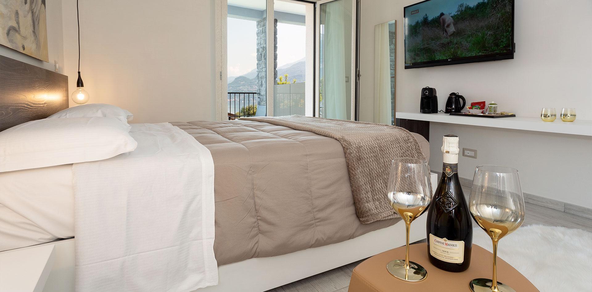 camera 2 persone con vista Bellagio lago di Como