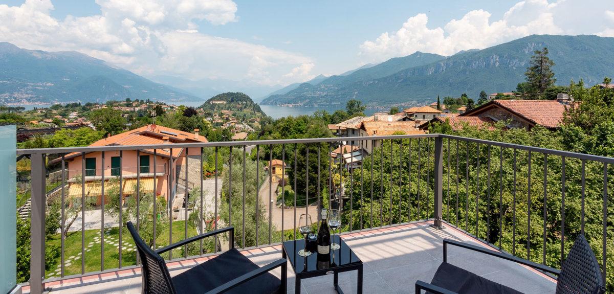 camera 4 persone Bellagio con vista lago di Como